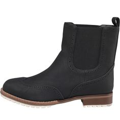 Firetrap Womens Vasili Boots Black Firetrap smart dealer brogue boot with contrast sole and twin elasticated gusset. http://www.MightGet.com/february-2017-2/firetrap-womens-vasili-boots-black.asp