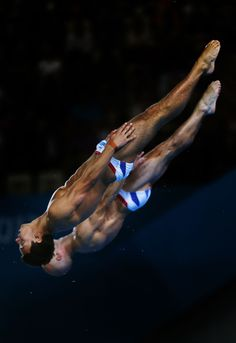 Tom Daley and Peter Waterfield of Great Britain compete in the Men's Synchronised 10m Platform Diving on Day 3 of the London 2012 Olympic Games
