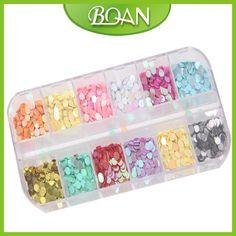 1 pc BQAN Colorful Manicure Sequins Nails Shiny Heart Paillette Nail Art Decorations