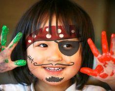 Pintar la cara en carnavales Pirata1