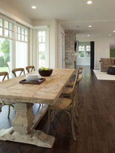 Dining Tables in Rustic Style, would love this table in a more natural wood finish