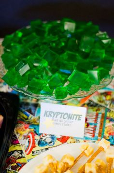 Superhero Birthday for Kids - Kryptonite jello