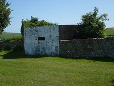 Wartime pillbox in corner of the cricket field.