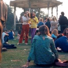 Angie Bowie and Mary Finnigan at Growth Summer Festival and Free Concert, 16 August 1969 Angie Bowie, David Bowie, Boys Keep Swinging, Old Person, How To Raise Money, Thankful, 16 August, Shit Happens, Concert
