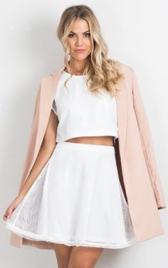 Make It Worthwhile two piece set in white