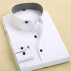 Men's Business Shirt Cotton Male Clothing Long Sleeve Slim Fitness Men Dress Shirt
