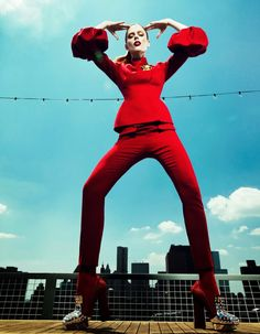 Coco on Top – Top model Coco Rocha shows off her skills in the September cover story from Harper's Bazaar China, wearing colorful fall fashions against a city skyline. Yin Chao photographed the Canadian beauty while Xiao Mu Fan styled her in the designs of Dior, Giorgio Armani and Fausto Puglisi amongst others. Hair stylist …