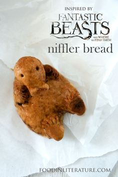 Fell in love with the Niffler in Fantastic Beasts and Where To Find Them? Make this niffler bread recipe, inspired by Jacob's Bakery scene!