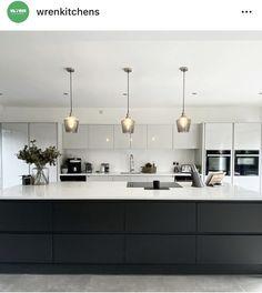 Wood Pendant Light, Wood Chandelier, Modern Pendant Light, Modern Chandelier, Modern Kitchen Island, Kitchen Islands, Ceiling Lamp, Ceiling Lights, Wren Kitchen