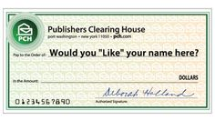 I would Love to Win that Big Check from Publisher Clearing House..