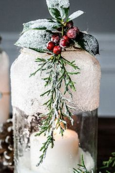 Decorate your home for cheap with these quick and simple Christmas decorations for your living room, Christmas tree or front porch. #diy #dollarstore #christmas Cone Christmas Trees, Christmas Jars, Simple Christmas, Christmas Crafts, Christmas Decorations, Christmas Ornament, Christmas Ideas, How To Make Ornaments, How To Make Wreaths