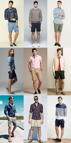 MEn's Chino Shorts Outfit Inspiration Lookbook
