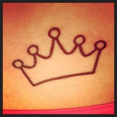 I really want this as a tattoo. It's simple and small so it won't take forever and hurt too bad, and won't be too expensive. My name means crown and my daddy always called me his little princess, and I've just kinda always been the princess of the family. Thinking maybe shoulder?