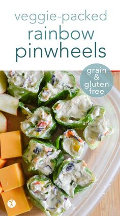 Tangy and full of nutrition, these veggie-packed rainbow pinwheels are a fun way to brighten up your kiddos' lunches! Wrapped in lettuce or a grain-free tortilla, they're a delicious grain-free meal. #grainfree #glutenfree #eggfree #veggies #pinwheels #lunch #schoollunch #traditionalfood #realfood