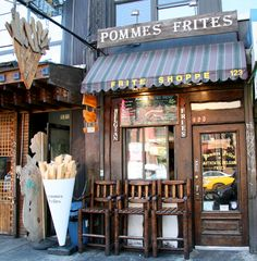 Pommes Frites NYC - Definitely a hole in the wall place in the East Village.  Serves only french fries with a wide variety of dipping sauces.  A must stop if you love fries!!