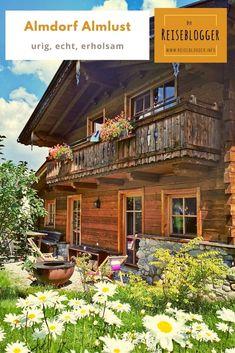 ALMDORF ALMLUST ❤️ So vielseitig ist das Hüttendorf! Rafting, Hotels, Travel With Kids, Cabin, Mansions, House Styles, Child, Home Decor, Parapente (paragliding)