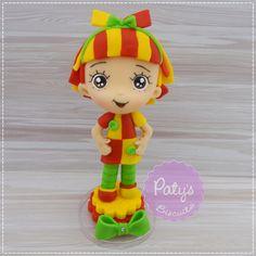 Miniatura / Topo de bolo Emília - Sítio do Pica-Pau Amarelo no Elo7 | Paty's Biscuit (CD7326)