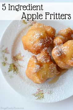 Crisp air, crisp apples and yummy comfort food are what fall is all about. I love making yummy fall recipes this time of year and this apple fritter recipe is a great breakfast recipe to make. It's easy to make and only takes 5 ingredients you proba Apple Fritter Recipes, Apple Dessert Recipes, Donut Recipes, Cooking Recipes, Simple Apple Recipes, Apple Baking Recipes, Easy Apple Fritters Recipe, Green Apple Recipes, Baked Apple Fritters