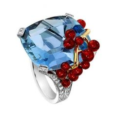 """Piaget  """"Blue Lagoon"""" cocktail-inspired ring @ Bal Harbour Shops"""