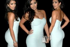 How did Kim Kardashian become popular? Who is Kris Jenner? What is Keeping Up With The Kardashians? What is the Kim Kardashian Illuminati connection? Strapless Mini Dress, Bodycon Dress, Bandage Dresses, Hoco Dresses, Dress Skirt, White Cocktails, Kim K Style, Kardashian Photos, Skinny Girls