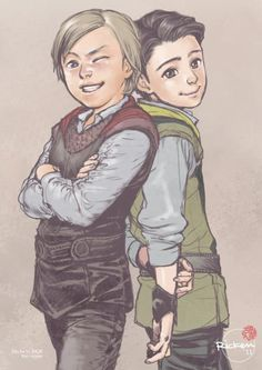 Little Thor and little Loki. ^_^OH MY GOSH-MY FAVORITE PART OF THOR!!