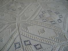 Ravelry Counterpane Bedspread Knit Crochet White Natural Ecru Cream