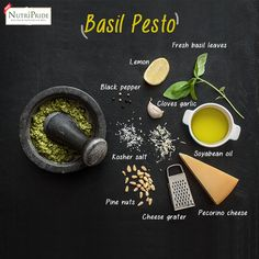 Gather these ingredients, and make Basil Pesto sauce to enjoy authentic Italian flavours.