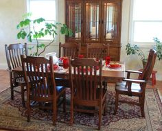Amish Home Place - Handcrafted Dining Furniture, Mission Table