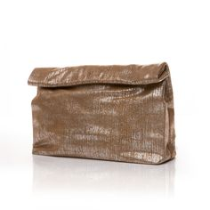 Marie Turnor Lunch Textured brown suede