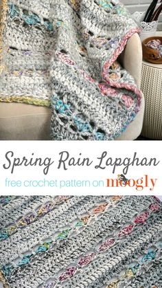 Spring Rain Lapghan - free crochet pattern on Moogly featuring Red Heart Collage!