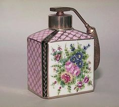 This gorgeous jewel peacock pink silk floral perfume bottle fragrance container has the finest details and highest quality you will find anywhere. Description from pinterest.com. I searched for this on bing.com/images