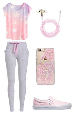 """Lazy Day"" by radientwings ❤ liked on Polyvore featuring Forever 21, Skinnydip and Vans"