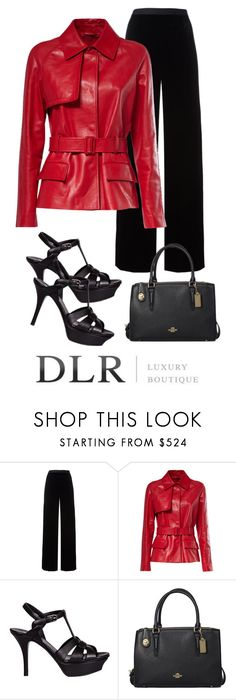"""DLRboutique.com"" by jillsjoyagol ❤ liked on Polyvore featuring T By Alexander Wang, Yves Saint Laurent and Coach"