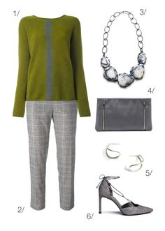 subtle and chic holiday style: sweater, plaid pants, statement necklace // click through for outfit details
