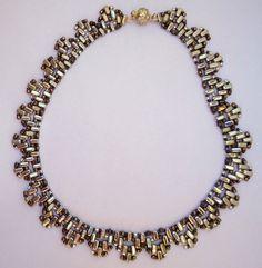 Choker style necklacemetallic beaded by JoolsbyAveril on Etsy