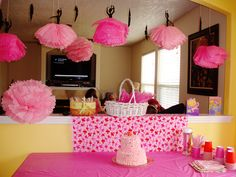 I designed these ballerina decor for her party.