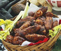 Prepare the wings and season them up to 2 days in advance for this make-ahead appetizer recipe. On party day, just dip them in the purchased barbecue sauce and bake.