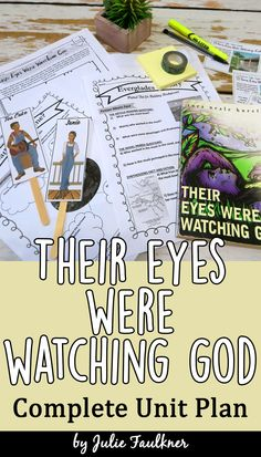 This low prep, standards-based, complete unit plan is designed to take your students through Their Eyes Were Watching God in a way that the novel comes alive. This literature guide for Their Eyes Were Watching God has been carefully crafted to reach all learners in a way that conveys and honors Hurston's beautiful handiwork.