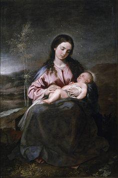 Alonso Cano, (1601-1667):   Virgin and Child  (ca. 1643, Prado, Madrid)