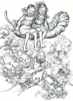 Betsy and Tacy Coloring page--one of Emma's favorite book series!