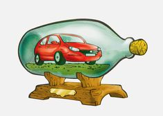 Enrico Pierpaoli Art Blog: A car in a bottle