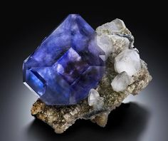 Fluorite, Calcite and Pyrite.