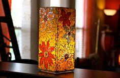 Fall Mosaic Lamp