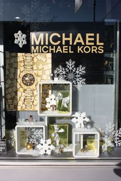 MICHAEL KORS Christmas window display in Vancouver BC, by a local display company. Simple but elegant! www.OptionDesigns.com