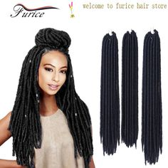 Wholesale 14 inch 18 inch Goddess Faux Locs Crochet Hair Extension