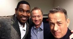 Forrest Gump reunited with Lieutenant Dan and Bubba after 21 years. Tom Hanks, Gary Sinise and Mykelti Williamson took this awesome picture while attending the Hollywood Salutes Heroes event at Paramount Pictures. Gary Sinise, Forrest Gump, Tom Hanks, Jonathan Frakes, Johnny Galecki, Matthew Lewis, Geena Davis, Robert Duvall, Lori Loughlin