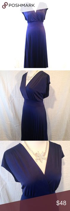 2x new navy blue semi formal dress This soprano brand 2X navy blue dress is in new condition with tags. Perfect for your summer wedding or any semi formal to formal occasion. Plus size. Please see photos. Please ask any questions before purchasing. Soprano Dresses Midi