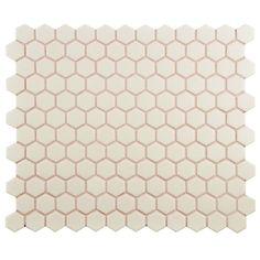 "Found it at Wayfair - New York 0.875"" x 0.875"" Hex Porcelain Unglazed Mosaic Tile in Antique White"