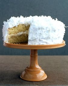 "Coconut Layer Cake with lemon cream filling. Note to self: use a larger 9"" pan."