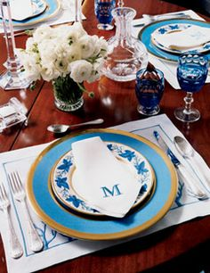 Tinsley Mortimer's Super Glam Glam NYC Apartments- The Glam Pad -- This china-and-crystal place setting is by William Yeoward